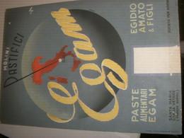 TARGA CARTONE PUBBLICITARIA MOLINI PASTIFICI EGAM - Plaques En Carton