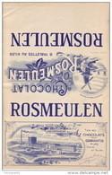 Ancien Emballage Superbement Illustré Chocolat  ROSMEULEN à NEDERHEIM - 6 Tablettes Au Kilog - Chocolat