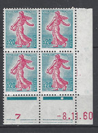 CD 1233 FRANCE 1960 COIN DATE 1233  : 8 11 60  LA SEMEUSE DE PIEL D APRES ROTY - 1960-1969