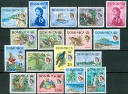 1963/67 Dominica Ordinaria Ordinary Ordinaire Trafalgar Waterfall Set MNH** B521 - Dominica (...-1978)