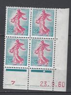 CD 1233 FRANCE 1960 COIN DATE 1233  : 23 9 60  LA SEMEUSE DE PIEL D APRES ROTY - 1960-1969