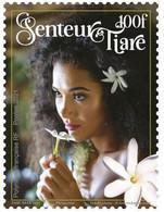 Polynésie Française 2021 - Timbre Senteur, Tiare - Neuf // Mnh - Unused Stamps
