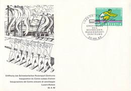 Switzerland Cover 1962 Schweizerischen Rudersport-Zentrum Luzern-Rotsee (T21-8) - Roeisport