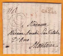1803 -  Marque Postale 106 CAZAL Casale Département Conquis En Rouge Sur LAC De 3 Pages Vers Mantoue Mantova - ...-1850 Préphilatélie