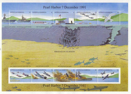 Antigua & Barbuda  -  Attack On Pearl Harbour - 7th December 1941   -  Large 10v Sheet  Neuf/Mint MNH - Guerre Mondiale (Seconde)