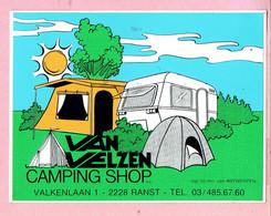 Sticker - VAN VELZEN Camping Shop - Valkenlaan Ranst - Autocollants