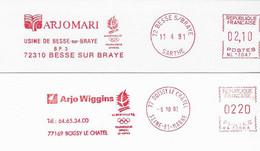 """1992 2 EMA: Jeux Olympiques D'Albertville: """"Arjomari Fournisseur Officiel""""  (n° NL 14047 / NA 33888) - Inverno1992: Albertville"""