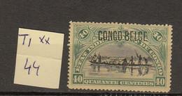 Congo Belge Ocb Nr :   44 ** MNH (zie  Scan) T1 Typo - 1894-1923 Mols: Neufs
