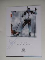 Biathlon -   Autographe - Carte Signée Simon Destieux - Winter Sports