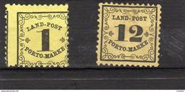 Allemagne Bade(Taxe) Lot De 2 Valeurs   N°1* Et 2* - Bade