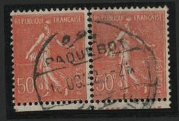 "N° 199 (x2) Détaché Obl. C. à D. MARITIME étranger ""PAQUEBOT ALEXANDRIE"". - 1877-1920: Semi Modern Period"