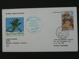 Lettre Premier Vol First Flight Cover Mauritius Frankfurt 1982 Lufthansa Ref 39535 - Seychelles (1976-...)