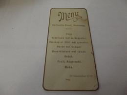 Menu Ancien 29 Novembre 1910 - Menus