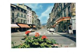 Cpm - 69 - TARARE - Rhône - Rue Pêcherie - Café Du Commerce - Voiture GS CITROEN - 204 PEUGEOT - Tarare
