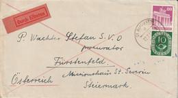 Allemagne Lettre Par Exprès St Augustin 1952 - Lettres & Documents