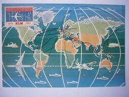 Avion / Airplane / KLM / World Map / S'Gravenhage 1959 / Airline Issue - 1946-....: Modern Tijdperk