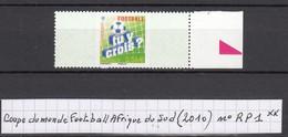 France Coupe Du Monde De Foot-ball En Afrique Du Sud (2010) Y/T Timbre Réponse Payée N° RP1 Neuf ** - Unused Stamps