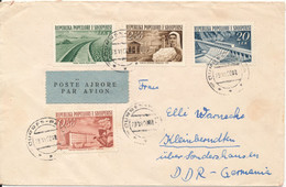 Albania Cover Sent Air Mail To DDR 28-6-1960 Buildings - Albania
