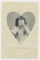 Carte I.R.N. - Un Doux Baiser Du Fond Du Coeur - édition BERGERET - Bergeret