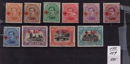 CROIX ROUGE ** N° 150 à 159 Cob 525 à  59,90 - 1918 Croce Rossa