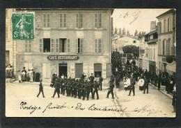 Carte Photo, SAINTES - Cortège Funèbre Du Lieutenant Mazèl, Très Animé - Saintes