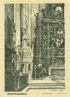 """Überlingen Bodensee 1931 Eintrittskarte """" Eintrittsausweis St Nikolaus Münster """" - Tickets D'entrée"""