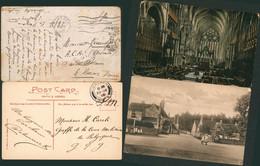 Guerre 14-18 - Lot De 2 CP Anglaises En S.M. (Corsham, Lincoln) > Armée Belge (Greffe De La Cour Militaire, A.C.A.) - Army: Belgium