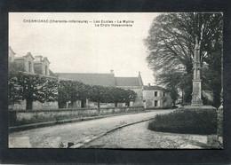 CPA - CHERMIGNAC - Les Ecoles, La Mairie, La Croix Hosannière - Other Municipalities