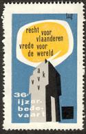 """Diksmuide Belgie Belgique Vlaanderen """" Ijzer Bedevaart 1963 """" Vignette Cinderella Reklamemarke F - Cinderellas"""