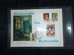 """BELG.1974 1708 1709 1710 & 1711 FDC Filacard Lier  """"Culturele Uitgifte /Emission Culturelle """" - 1971-80"""