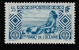 OCEANIE - N°100 ** (1939-49) 55c Bleu - Nuevos