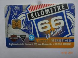 CARTE A PUCE CHIP CARD  CARTE FIDÉLITÉ  PRIVILÈGE KILOMÈTRE 66 80 SOMME AMIENS - Cartes De Fidélité Et Cadeau