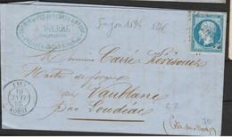 RARE CàD Jugon LPC 1594 + RARE Début De L'utilisation 28.01.61 Du  N°14B TBE - 1853-1860 Napoleon III