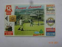 CARTE A PUCE CHIP CARD  CARTE FIDÉLITÉ  PASSEPORT LOISINORD 62 PAS-DE-CALAIS NOEUX-LES-MINES - Tarjetas De Fidelización Y De Regalo