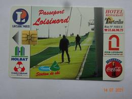 CARTE A PUCE CHIP CARD  CARTE FIDÉLITÉ  PASSEPORT LOISINORD 62 PAS-DE-CALAIS NOEUX-LES-MINES - Carta Di Fedeltà E Regalo