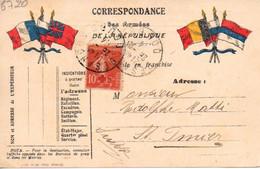 Carte En Franchise Militaire :  Avec Timbre N° 146  1914 - Other