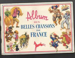 POULAIN..** BELLES CHANSONS DE FRANCE **  ALBUM INCONPLET  AVEC 89 IMAGES ** TRES BON ETAT..PROPRE - Albumes & Catálogos