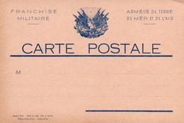 Carte En Franchise Militaire : Neuve , Imprimerie AUVIN, Angoulême 16 - Other