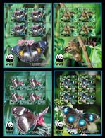 AITUTAKI STAMP - 2008 Butterflies SET 4 MINISHEETS MNH (STB10-260) - Aitutaki