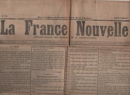 FRANCE NOUVELLE 22 05 1877 - CRISE POLITIQUE - PREFETS - MINISTRES - OMNIBUS - HOTEL-DIEU - MAC MAHON POUVOIRS - GAUCHES - 1850 - 1899