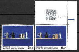 Année 1985 Y. & T. N° 2364 ** Couleur Ocre Absente Sur Timbre De Gauche - Variétés: 1980-89 Neufs