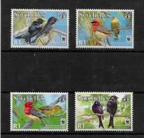 SEYCHELLES STAMP - 2008 WWF - Aldabra Red-headed Fody And Aldabra Drongo SET MNH (STB10-263) - Seychelles (1976-...)