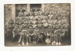 Cp,  Carte Photo , Militaria , Militaire Du 41 éme , Musique & Musiciens , Vierge - Personajes
