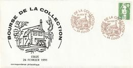 OT Sur Enveloppe : Bourse De La Collection (Couze, 24-Dordogne-Périgord) Du 24-02-1991 Sur YT 2627 - Cachets Commémoratifs
