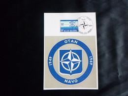 """BELG.1974 1712 Kaart/Carte  Maximum Cachet/stempel Brux-Bru """"25e Anniversaire De L'O.T.A.N./25e Verjaring Van De N.A.V.O - 1971-1980"""