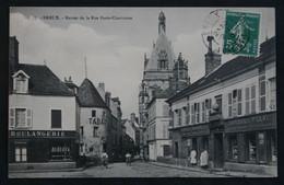 CPA Eure Et Loir - Dreux (28100) – 77. Entrée De La Rue Porte Chartraine – Tabac Boulangerie Commerces Huiles Brosseries - Dreux