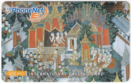 THAILAND I-767 Prepaid PhoneNet - Culture, Traditional Painting - Used - Thaïlande