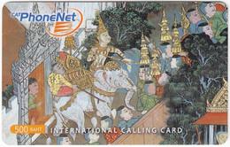 THAILAND I-771 Prepaid PhoneNet - Culture, Traditional Painting - Used - Thaïlande