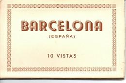 Leporello Spanien: Barcelona, 10 Karten Je Ca. 9 X 14 Cm - Unclassified