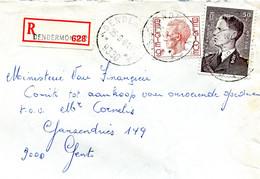 1981 R-enveloppe Met Ster Stempel DENDERMONDE 4 - Boudewijn  Zegels - Lettres & Documents